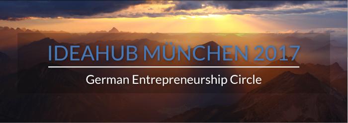 IdeaHub Sustainability Entrepreneurship München 2017